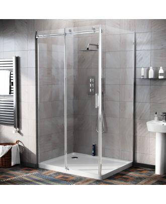 Obadiah 1100 x 900mm Frameless Sliding Shower Door Enclosure