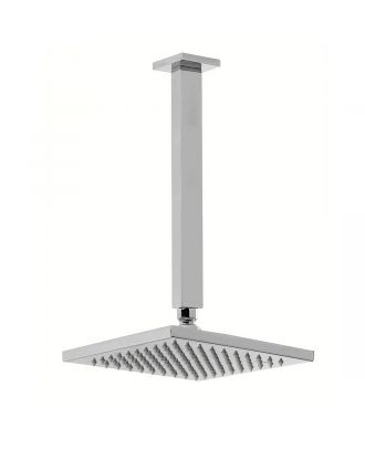 200 mm Square Fixed Shower Head With 250mm Ceiling Mounted Arm