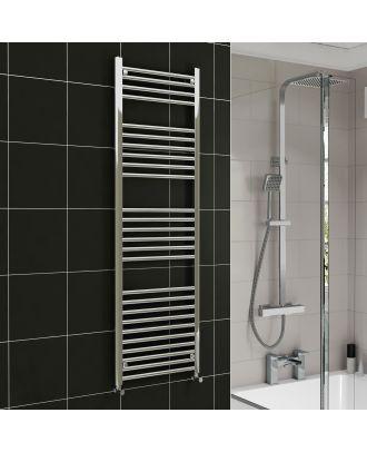 Lois Chrome Straight Ladder Towel Rail Radiator 1600mm x 600mm