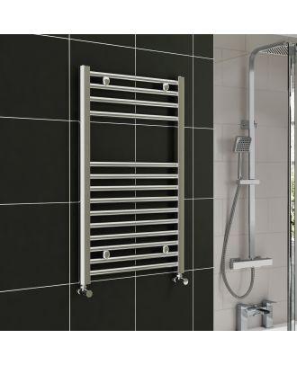 Lois Chrome Straight Ladder Towel Rail Radiator 800mm x 300mm
