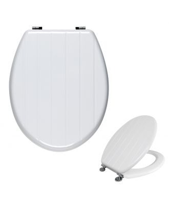 Universal Classic Oval Shaped Design Toilet Seat & Fixings White