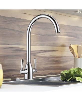 Valencia Swivel Sink Kitchen Mixer Tap Brushed Nickel