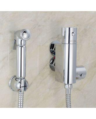 Bathroom Brass Bidet Douche Thermostatic Bar Valve with Spray Kit