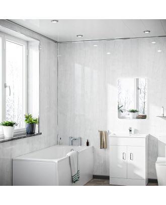 Setona PVC Panel Ceiling White Wood Gloss Cladding 250mm X 2700mm X 5mm
