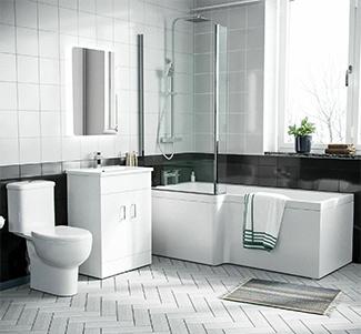 View L-Shaped Bath Suites
