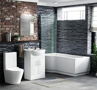 View P-Shaped Bath Suites